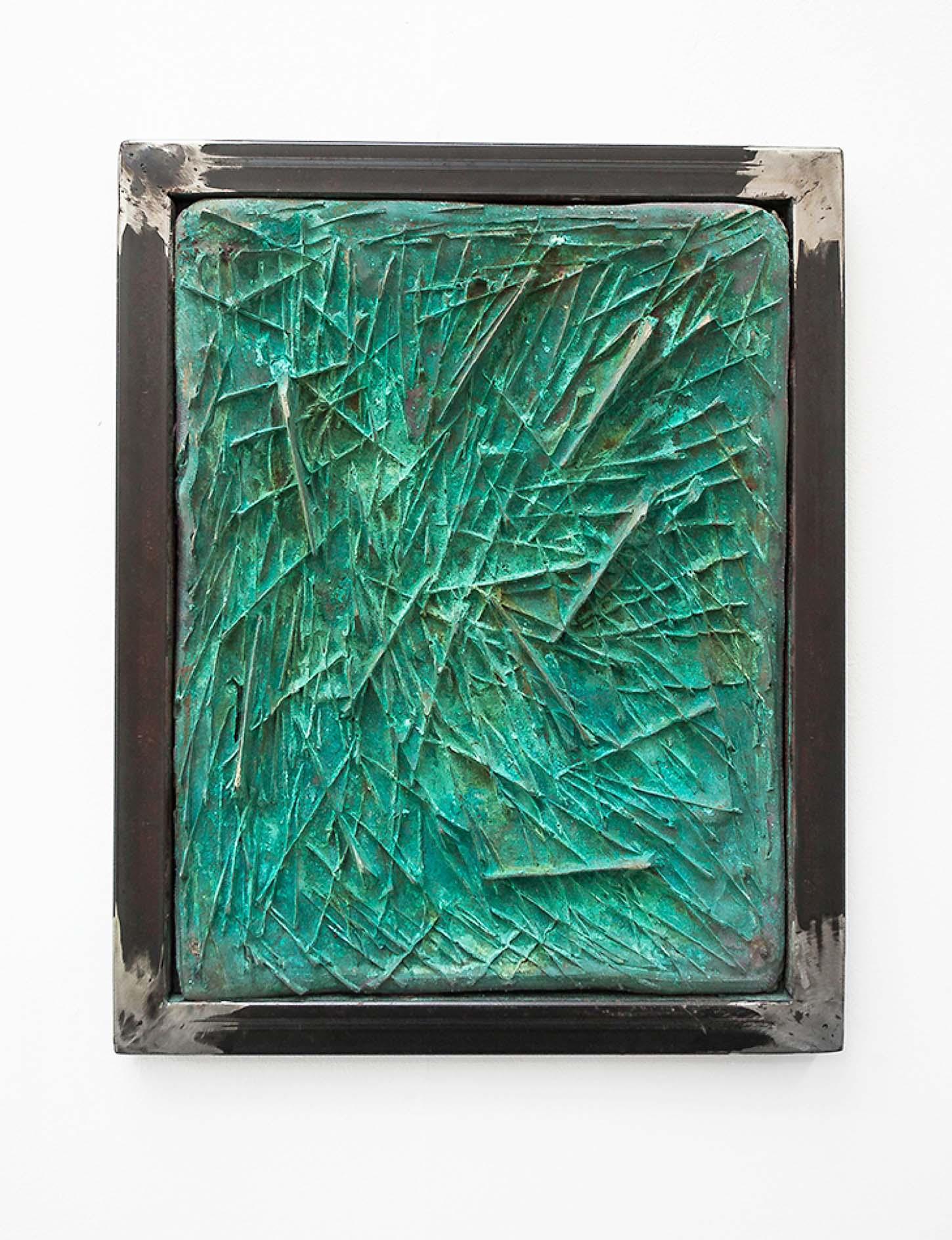 • La galeriePrécipitéTom Giampieri et Amandine Guruceaga19 janvier - 10 mars 2018Amandine Guruceaga, swing of axe #1, 2016, Acier, matière composite, bronze 35 x 43 cm