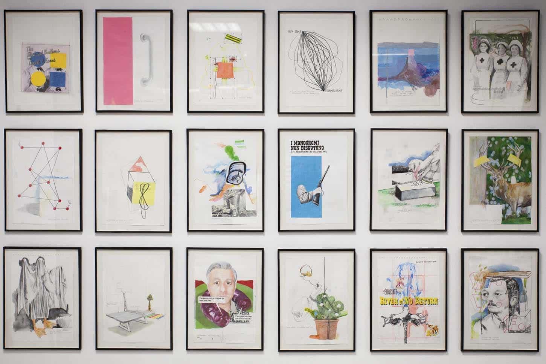 • LeshowroomThierry Lagalla, Dessins formats21 x 29,7 cm, 2012-2015, Techniques mixtes sur papier