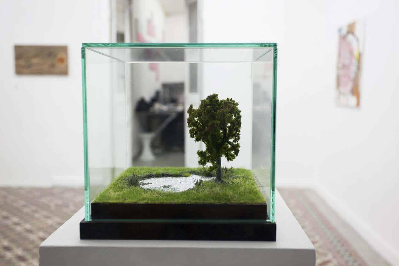 • La galerieThierry Lagalla, L'hêtre et l'étang, 2015, techniques mixtes. Coll. Privée.