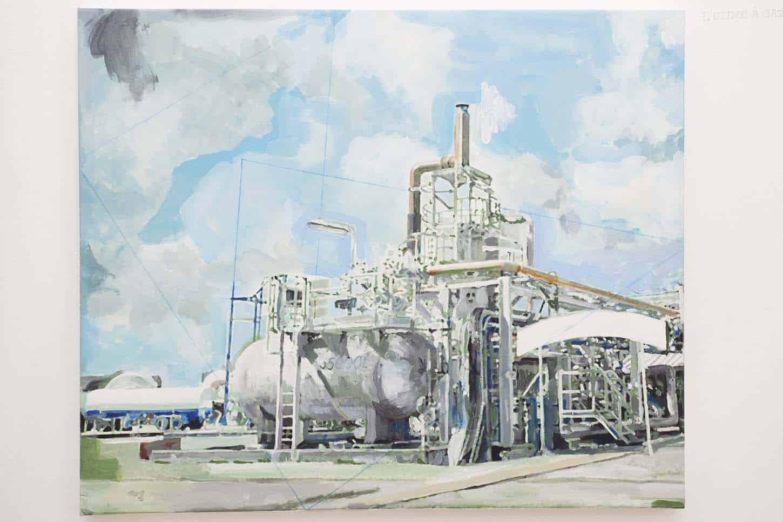 • La galerieThierry Lagalla, L'usine à gaz,2015, Acrylique sur toile, 54 x 65 cm