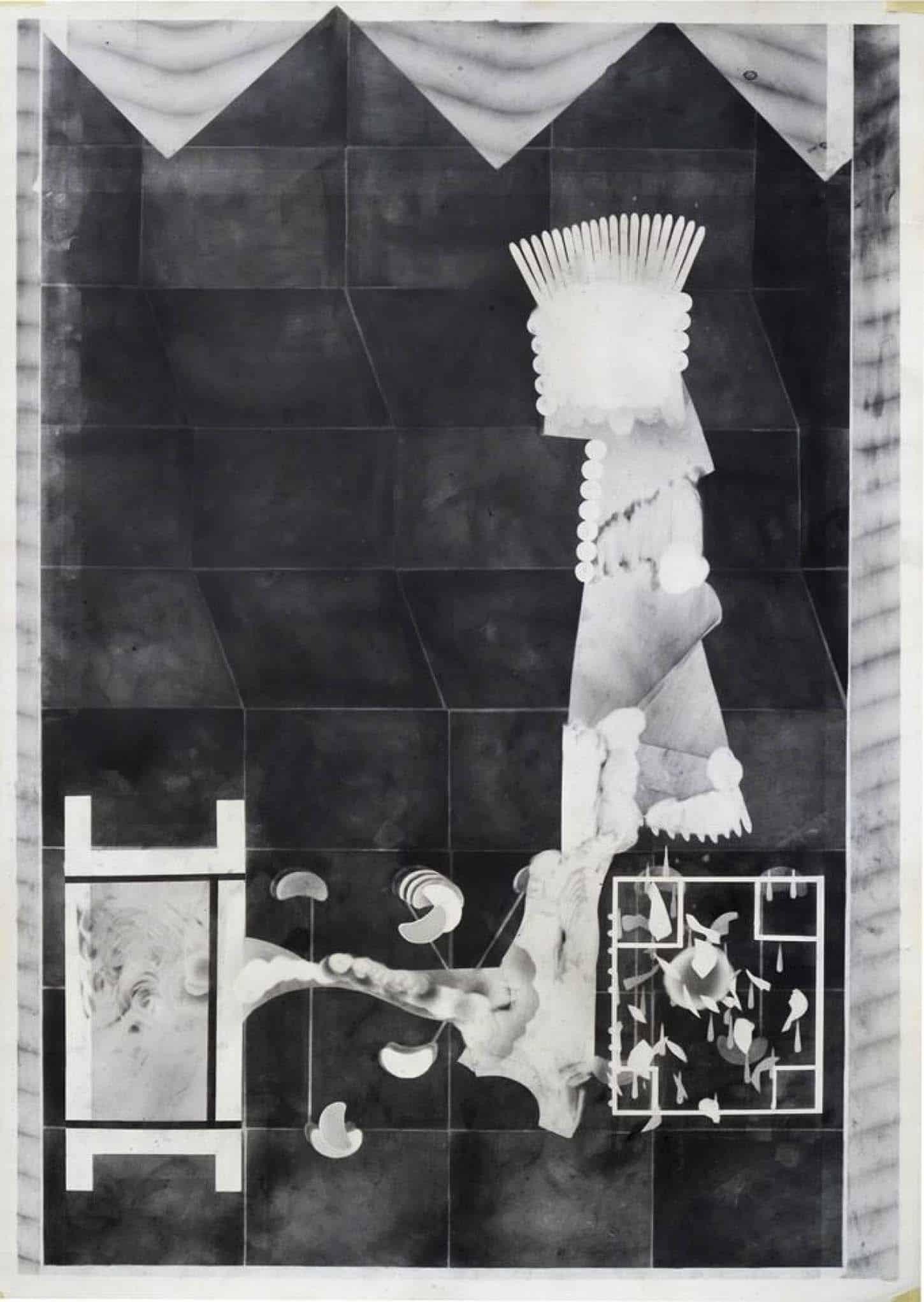 Philip Vormwald, Sans titre, graphite sur papier, 70 cm x 100 cm, 2015