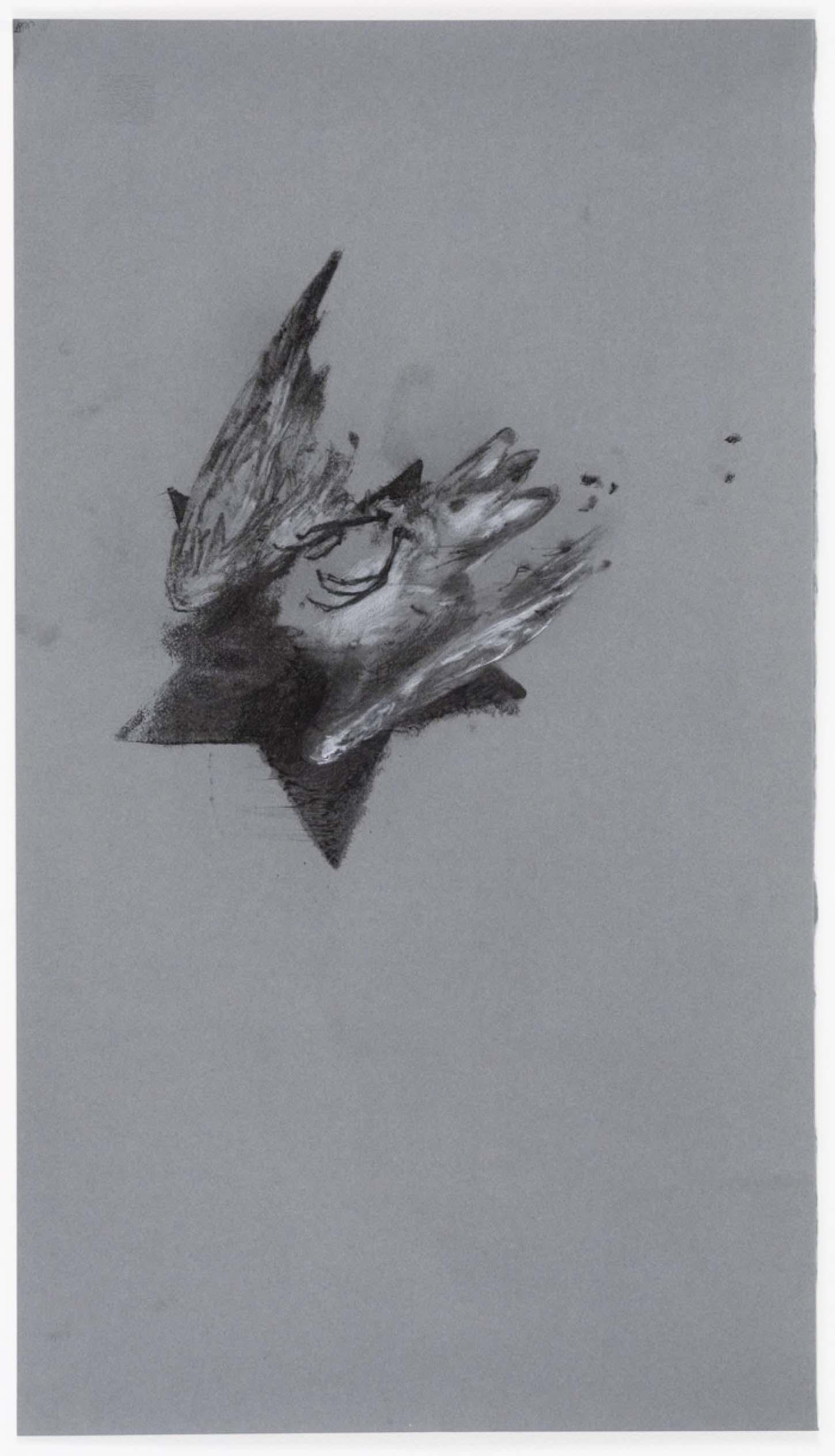 Jean-luc Verna, Death Wish (détail), 2005, transfert sur papier ancien rehaussé de crayons et de fards, hors cadre 18,7 x 13,3 cm, Edition 1/1