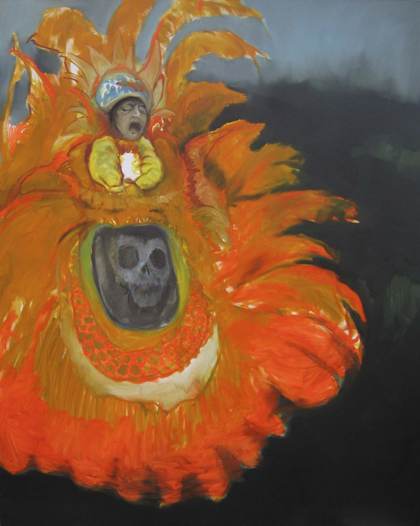 Romain bernini,Wild magnolia, huile sur toile, 200X160 cm, 2008