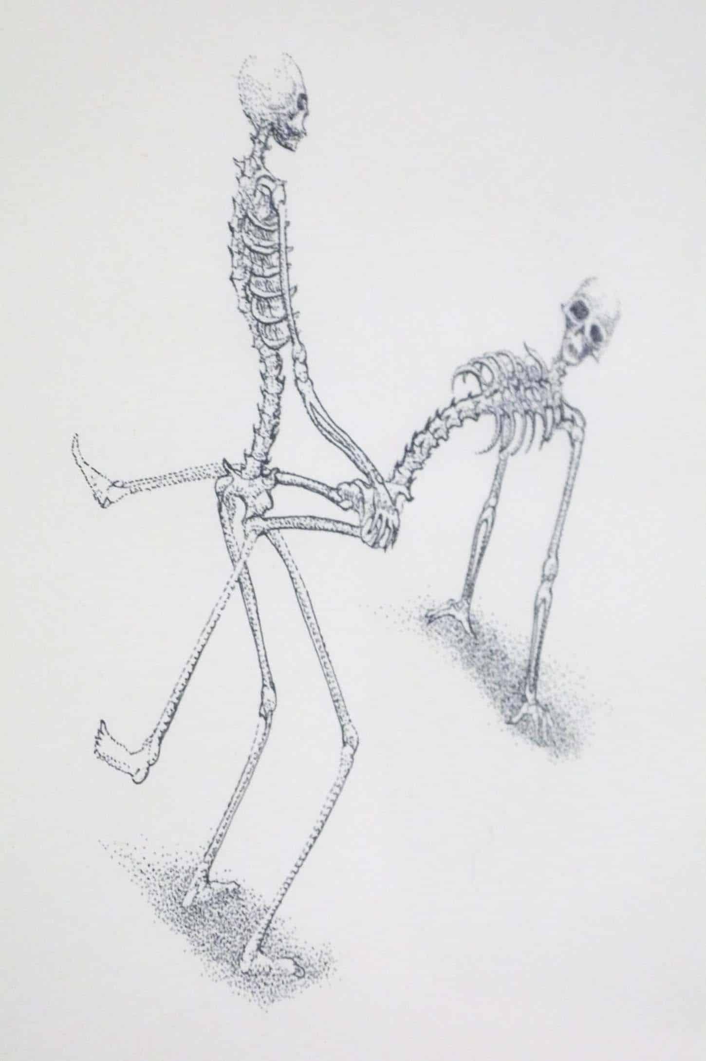 Thierry agnone,Dessin 2004 (détail), Rotring 0,1 (encre Rotring) sur papier, 24 x 38 cm