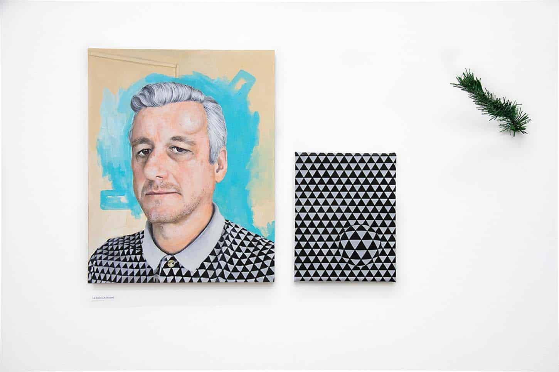 Thierry LagallaLa badola (bump), 2019Acrylique sur toile, 63 x 43 cm