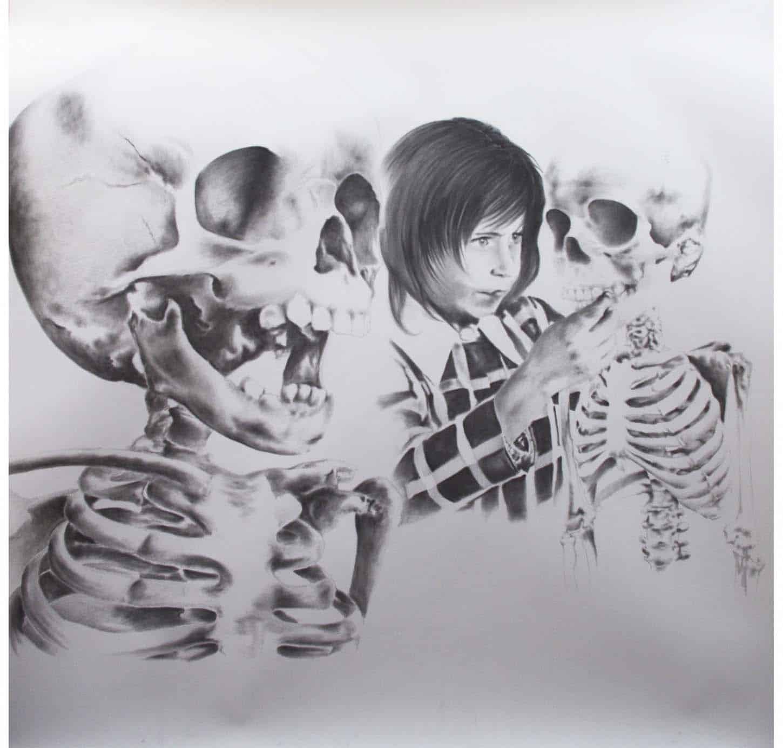 Stéphane Protic,Sans titre, 2014, mine graphite sur papier, 144 x 150 cm