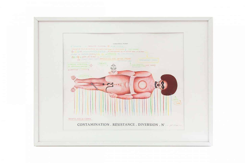La galerie: La IIIe narine Joël Hubaut Sans titre, 2005 graphite et aquarelle sur papier
