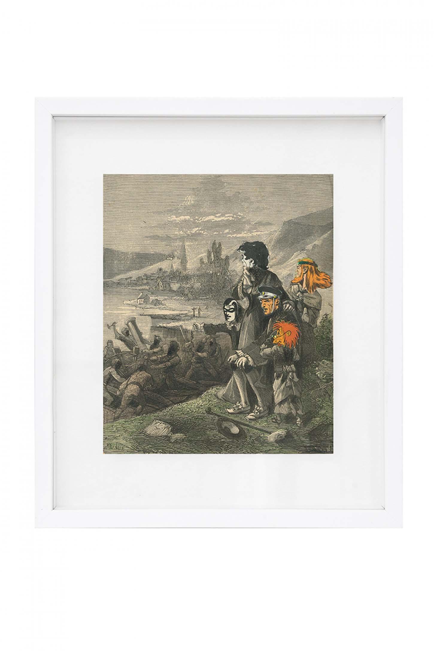 La galerie: La IIIe narine Hippolyte Hentgen Sans titre, 2015 Collage, 22,5 x 18 cm Courtesy : Gal. Semiose