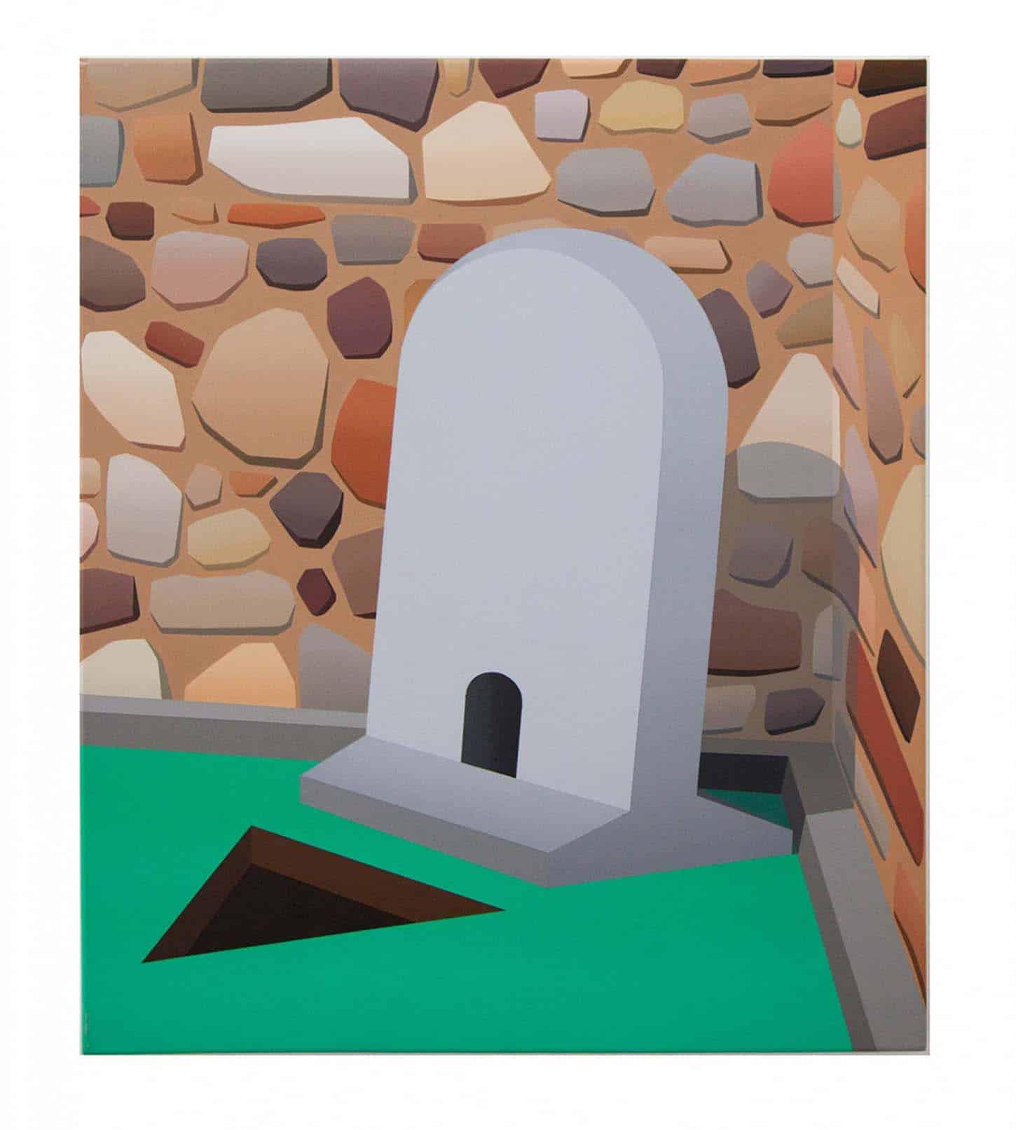 La galerie: La IIIe narine Amélie Bertrand, Sans titre, 2011, Huile sur toile, 70 x 60 cm
