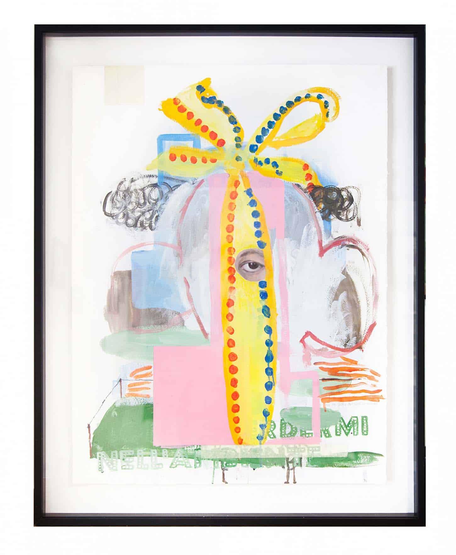 La galerie: La IIIe narine Thierry Lagalla, Ne me jetez pas dans la nature, mesclun sur papier, 80 x 60 cm, 2017