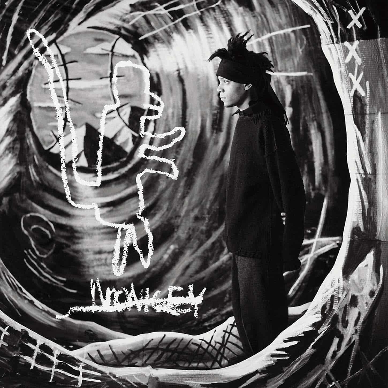 Louis Jammes,No monkey.Collaboration avec JM Basquiat, New York, USA, 1986.© Louis Jammes.Jet d'encre sur papier affiche, 120 x 120 cm.25 exemplaires, signées et numérotées par l'artiste.