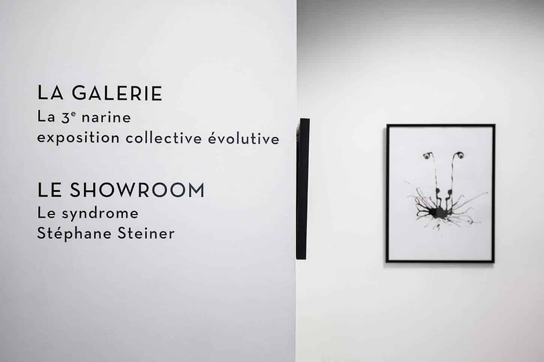 Vue de l'exposition: Le Syndrome, par Stéphane Steiner.