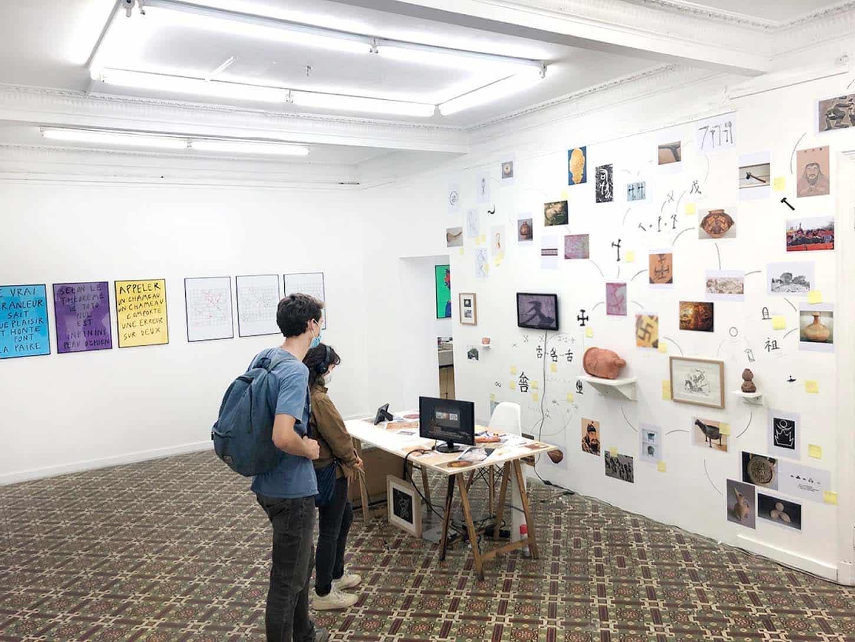 Vue de l'exposition : Un point complet sur la situation, Espace A VENDRE, Nice