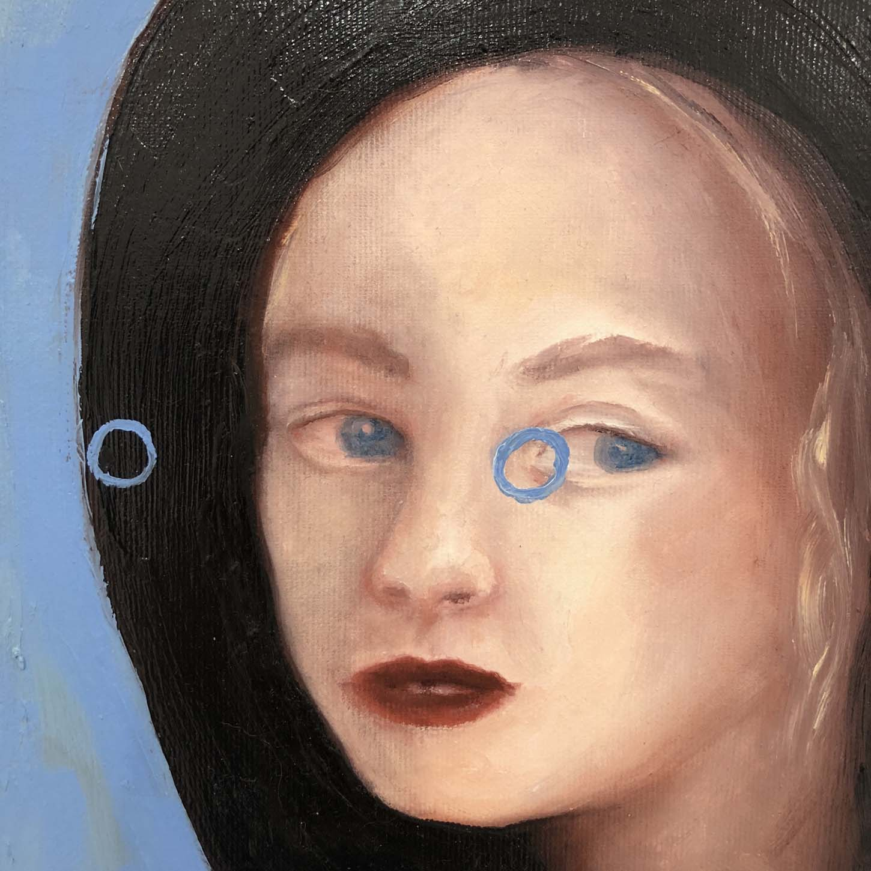Emelie Theander,Abduction VIII, 2016 oil on canvas, 30 x 24 cm