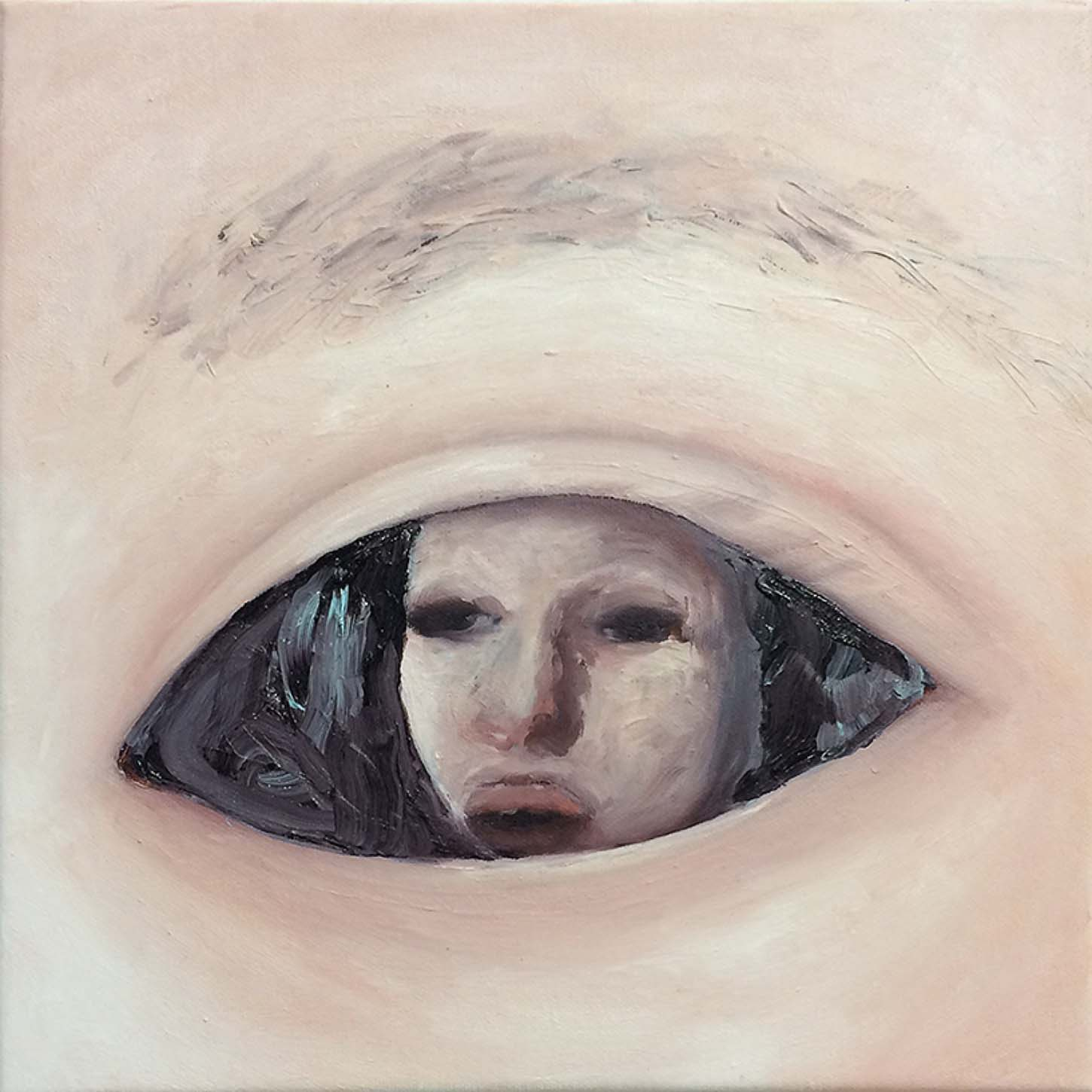 Emelie Theander,Inside Out, 2016oil on canvas, 30 x 30 cm