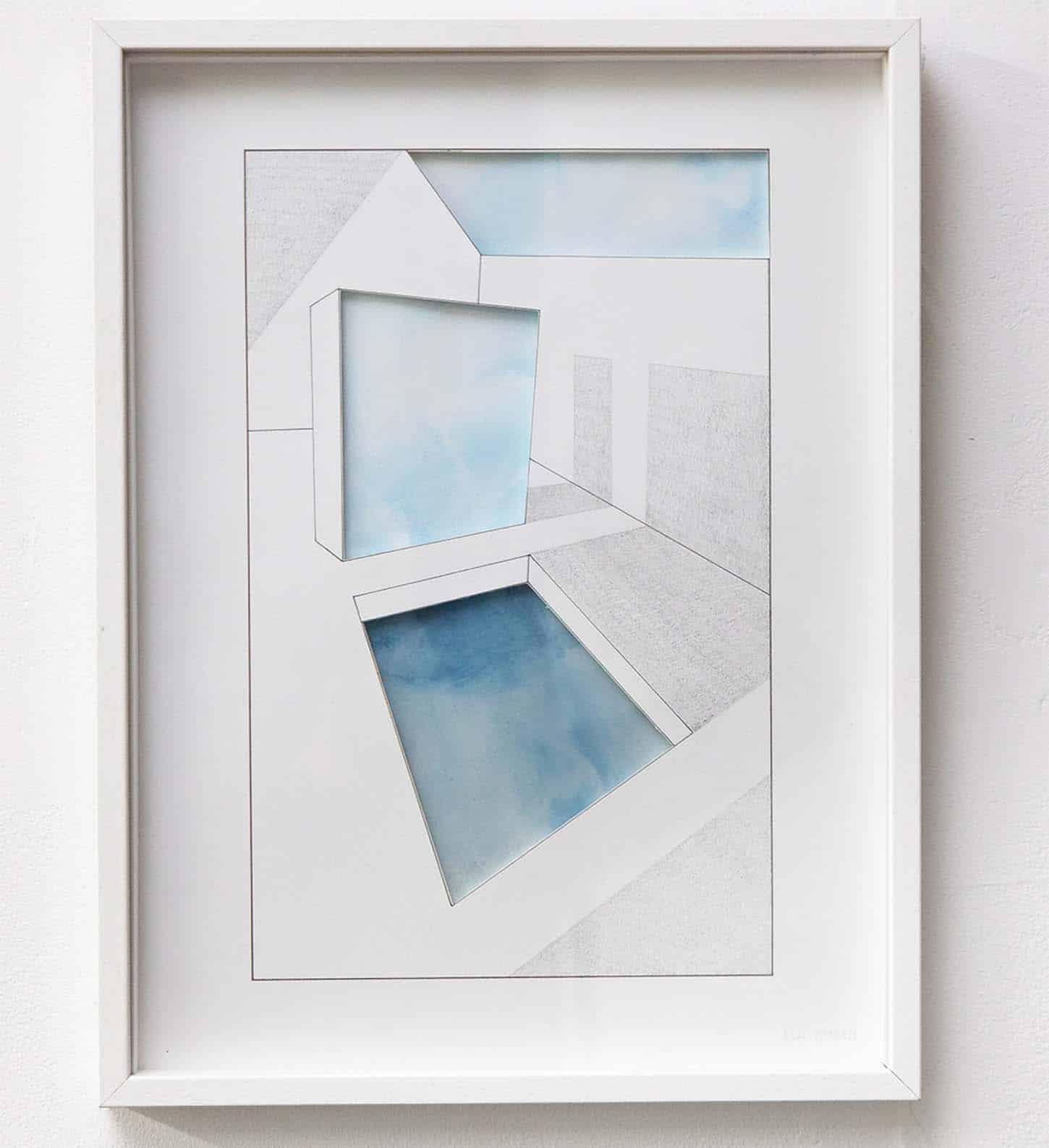 Eva Medin, Abyssal Spaces - Floa-ting mountains, 20 x 30 cm