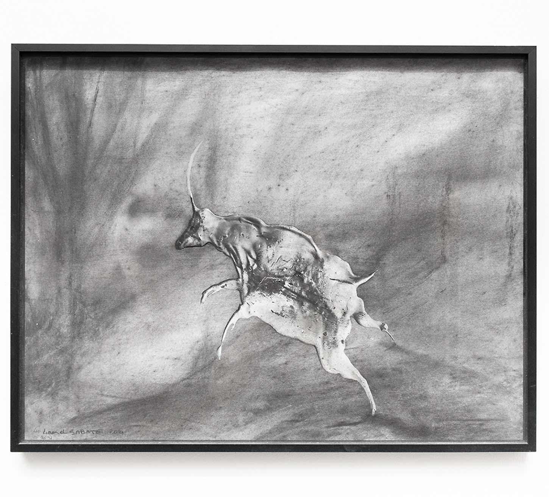 Lionel Sabatté, Sans titre, 2014, Charbon, medium acrylique sur papier Arches, 50 x 65 cm