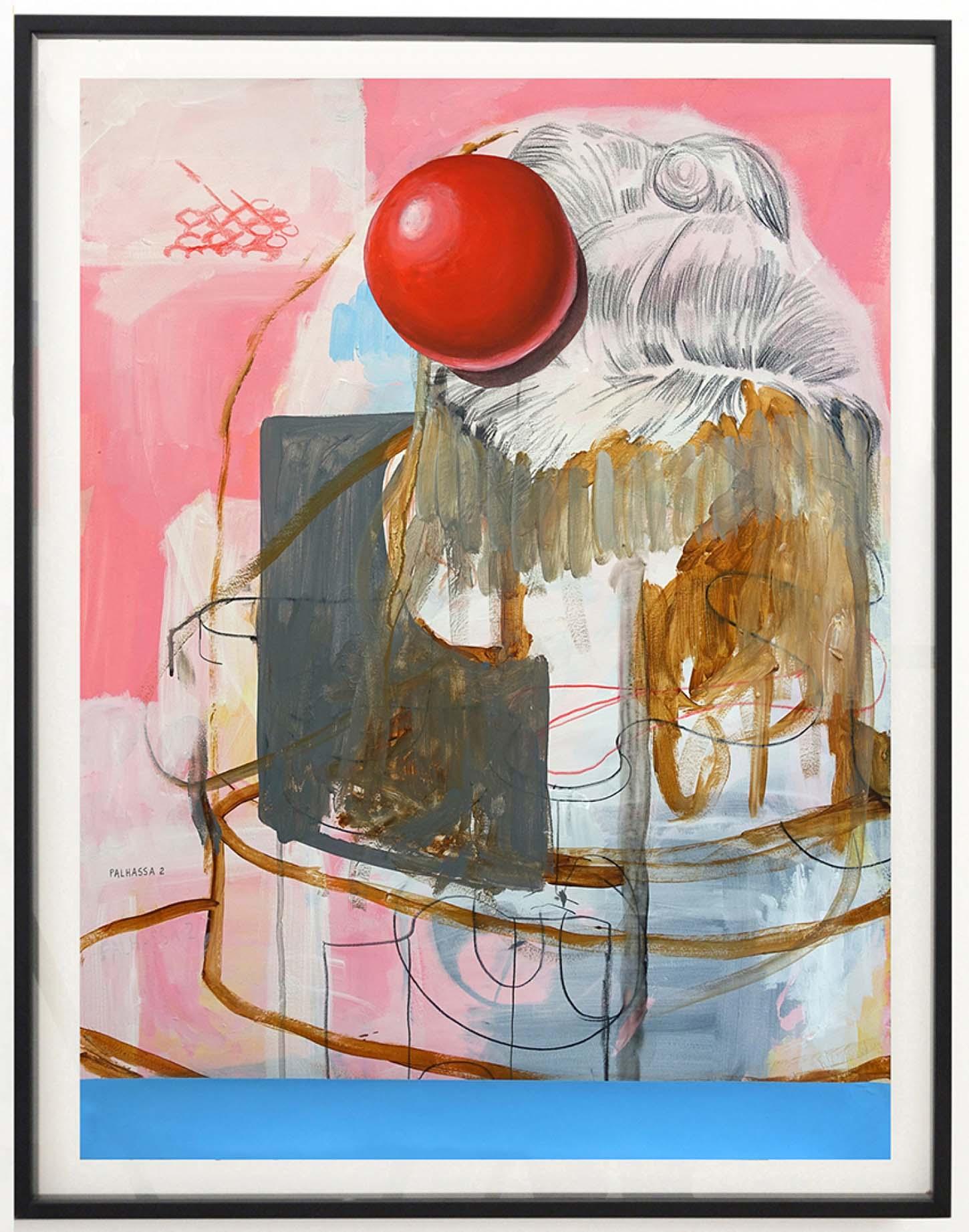 Thierry Lagalla, Palhassa 2, 2018Technique mixte sur papier, 80 x 60 cm