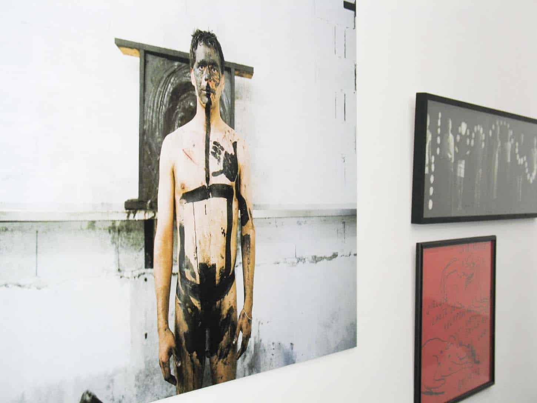 Open, février 2006, première exposition du deuxième lieu d'Espace A VENDRE à Nice,rue Smolett. Sabry Tchalgadjieff