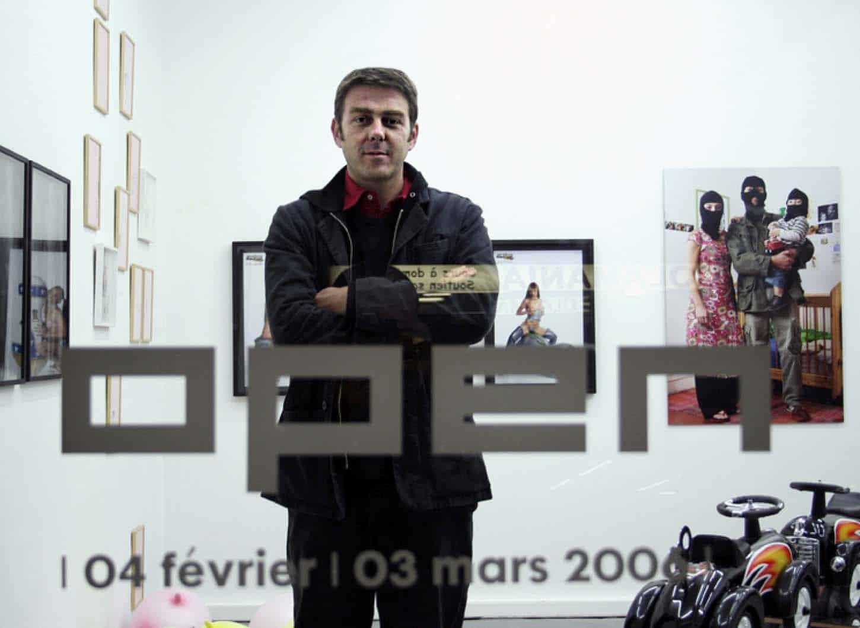 Open, février 2006, première exposition du deuxième lieu d'Espace A VENDRE à Nice,rue Smolett. Bertrand Baraudou