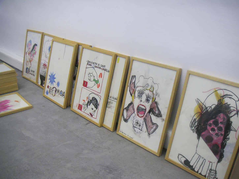 Open, février 2006, première exposition du deuxième lieu d'Espace A VENDRE à Nice,rue Smolett. Thierry Lagalla
