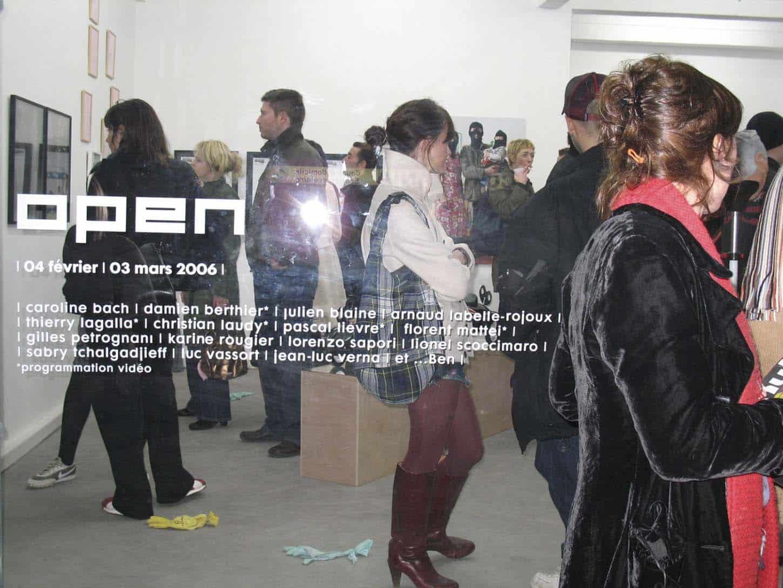 Open, février 2006, première exposition du deuxième lieu d'Espace A VENDRE à Nice,rue Smolett.
