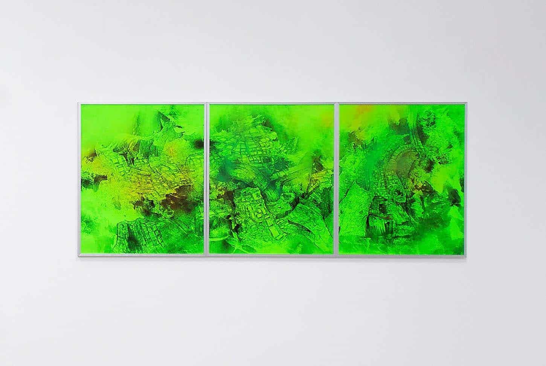Quentin Spohn, Sans titre, 2018 Encre et acrylique sur papier, 60 x 150 cm