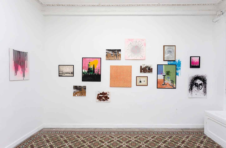 Vue de l'exposition de Stéphane Steiner, NEW YORK IS BURNING.