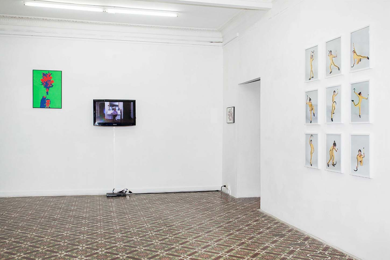 . La galerie La leçon : QingmeiYao vs Eric Duyckaerts, vue d'exposition