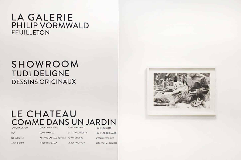 Espace A VENDRE, Le Showroom: Dessins originaux, par Tudi Deligne.
