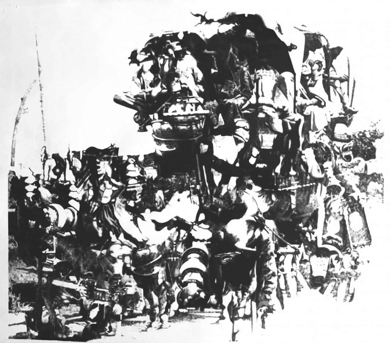 Espace A VENDRE, Le Showroom: Dessins originaux, par Tudi Deligne.  Ghost pioneers Crayon noir sur papier, 65 x 42 cm, 2011 2 400 €
