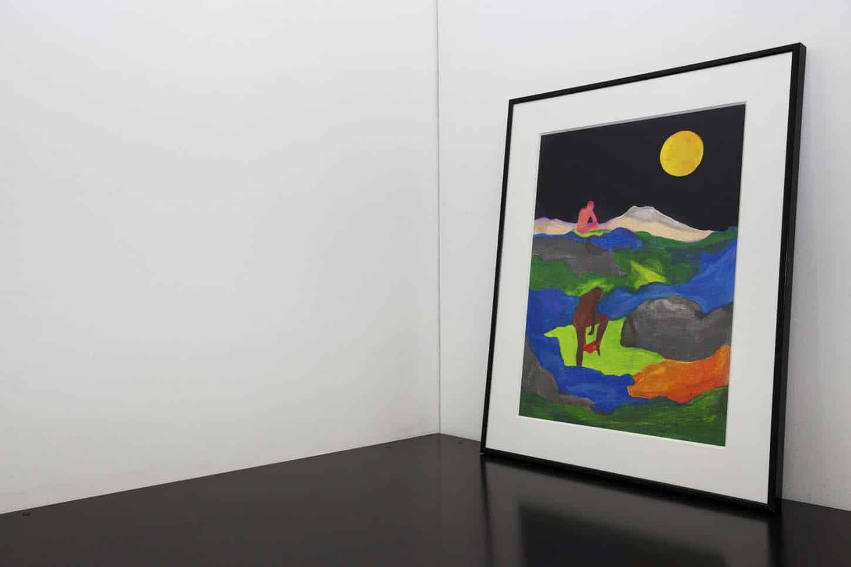 • Le bureau  Tom de Pekin, sérieDécors montagneux,techniques mixtes sur papier, 21x29,7 cm