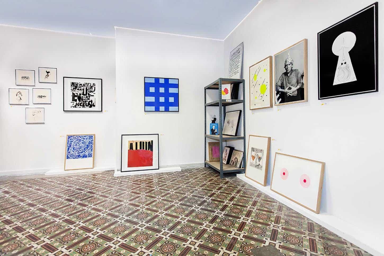 Espace A VENDRE, vue d'ensemble de l'exposition collective, Edition.
