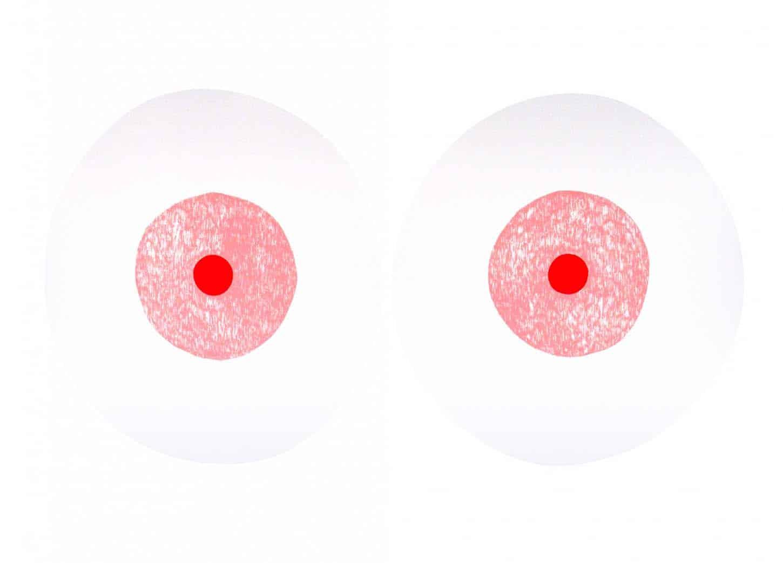 John Deneuve, Sans titre (Vinyles) Sérigraphie sur Arches BFK 300 gr, 70 x 50 cm, 2014.