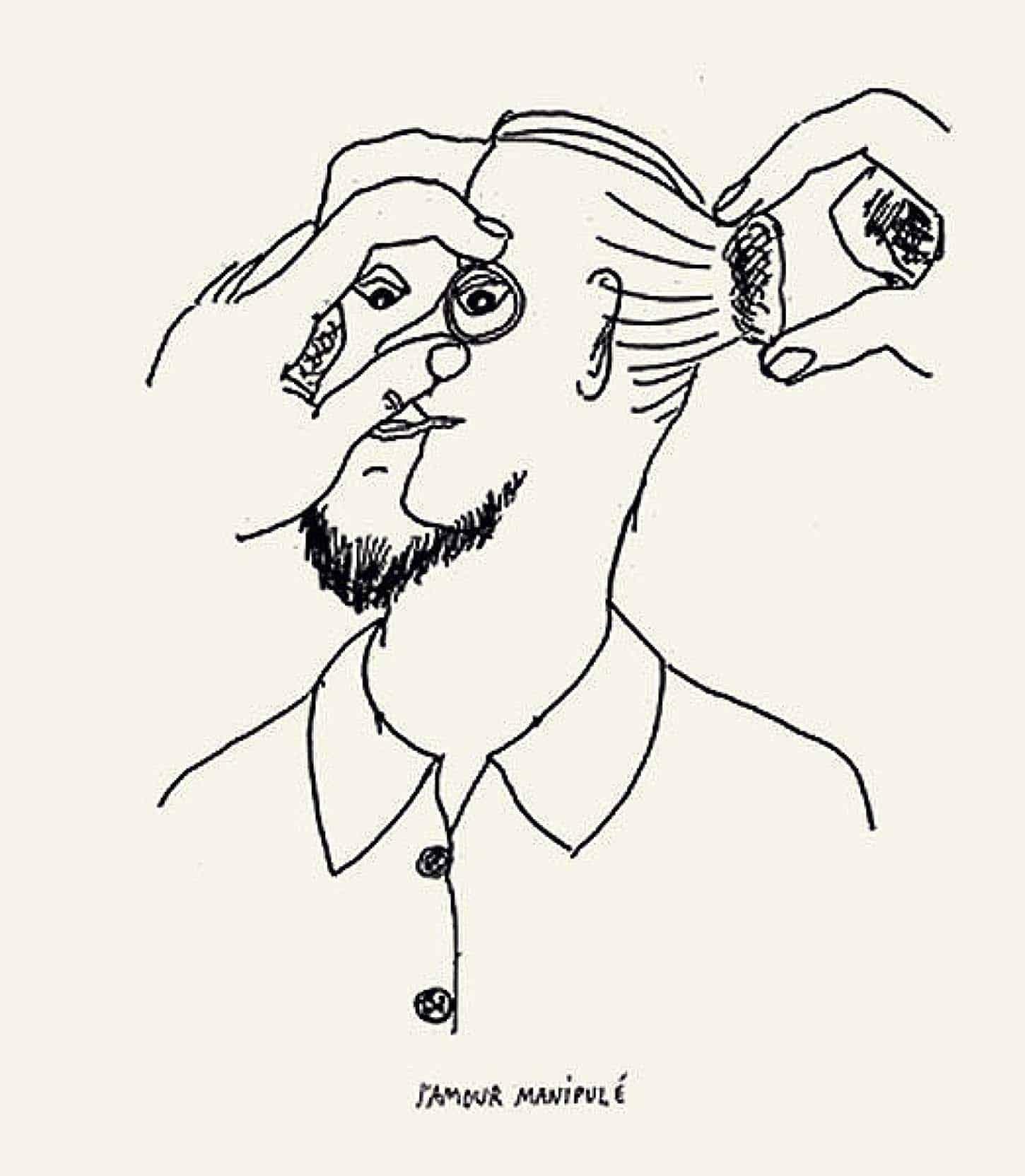 Erik Dietman  Sur le doigt et dans la tête n°6 Sérigraphie sur papier Rivoli Ivoire 300gr, en 1 passage, 25 x 22 cm, 60 ex, 2000.