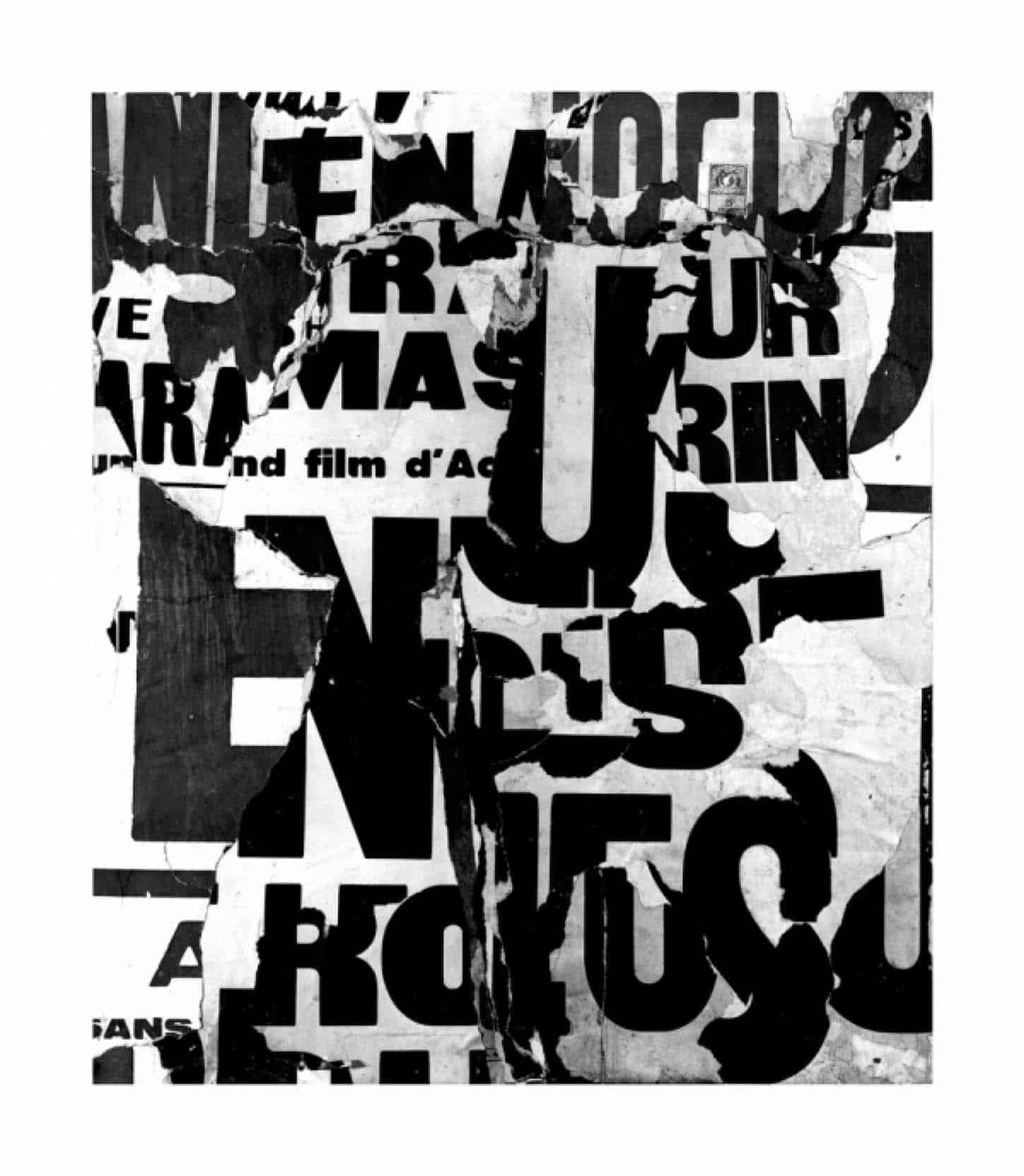 Jacques Villeglé, Rue René Boulanger Digigraphie sur BFK Rives, 310gr, 60,4 x 55,9 cm, 20 ex, 2013.