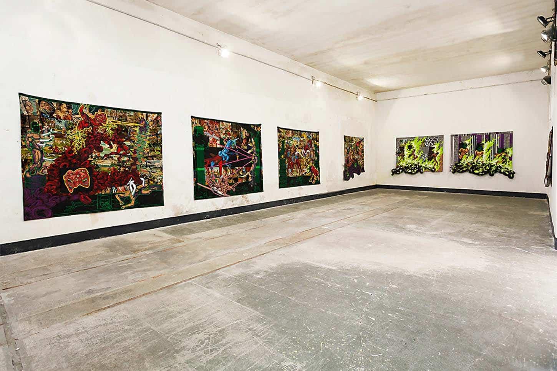 Lucien Murat, vue de l'exposition dans le château d'Espace A VENDRE