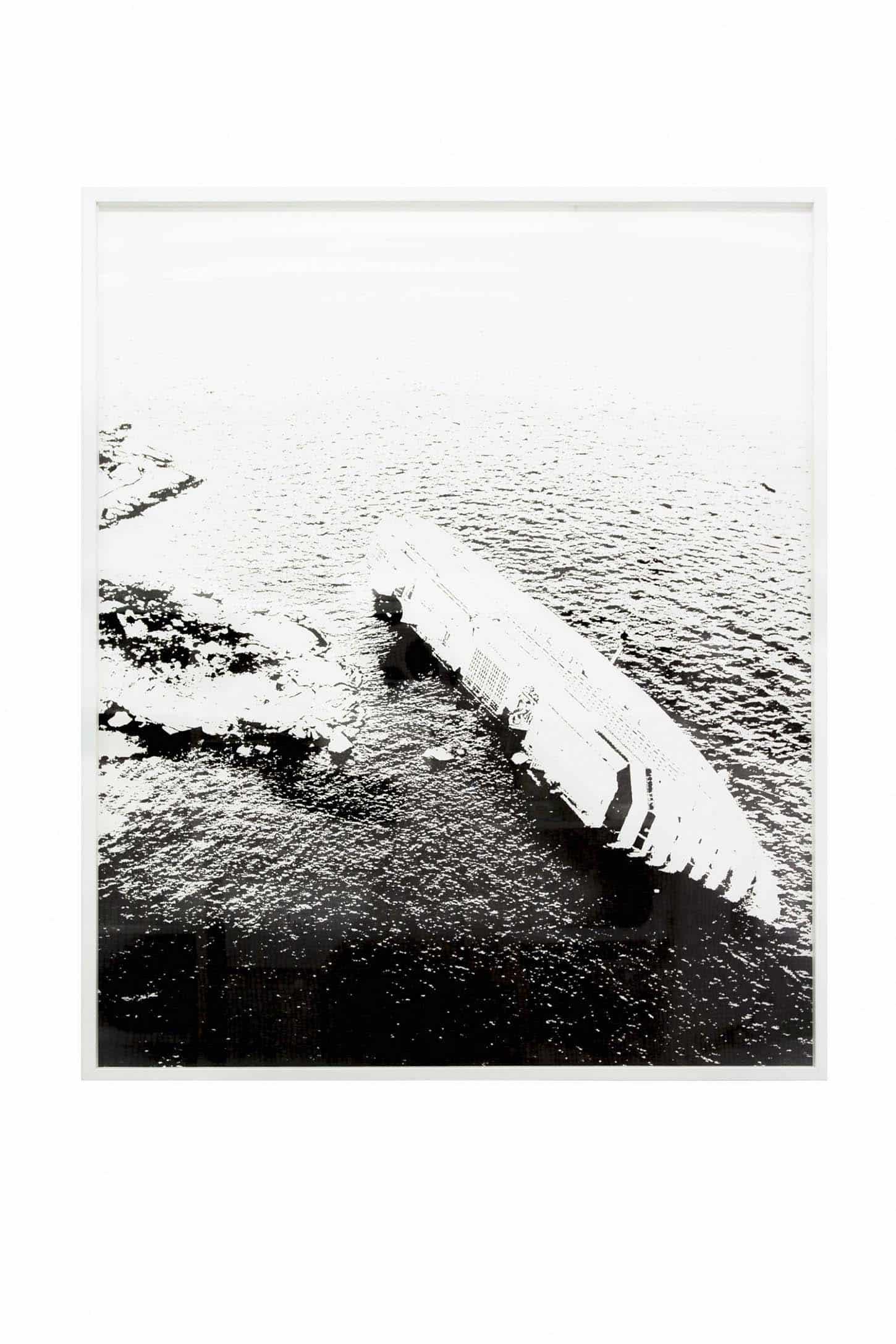 Emmanuel Régent,L'Entre Monde, 28 janvier 2016, encre de Chine sur papier, 110 x 130 cm