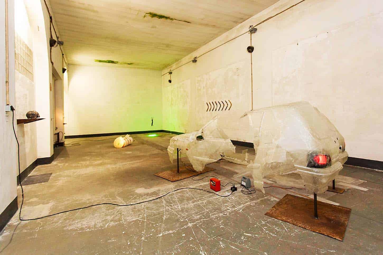 Espace A Vendre: Vue d'ensemble exposition Anonymous de Charles Sanchez.