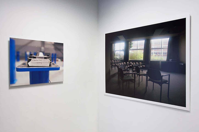 Espace A VENDRE.Vue de l'exposition: L'usine, par Caroline Bach.