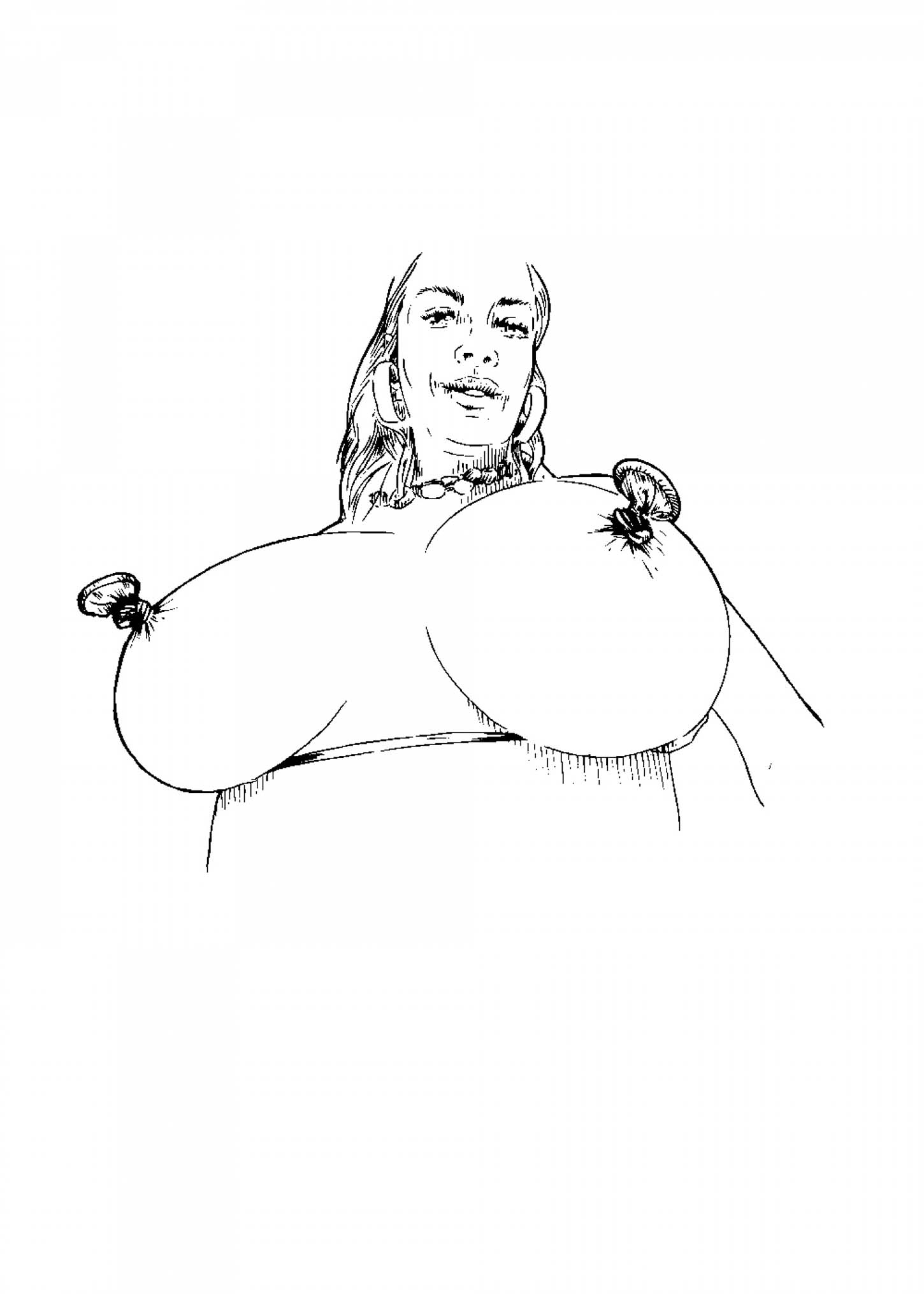 Han Hoogerbrugge, Sérigraphie, 70x50cm, 50 ex/brut de Centaure 300g. Disponible