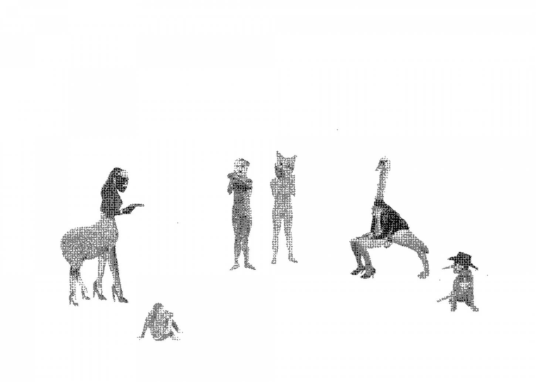Karine Rougier, Sérigraphie, 70x50cm, 50 ex/brut de Centaure 300g. Disponible