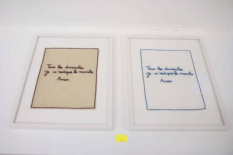 Eric Pougeau,Tous les dimanches, ...,Broderie. 2010, 5ex.