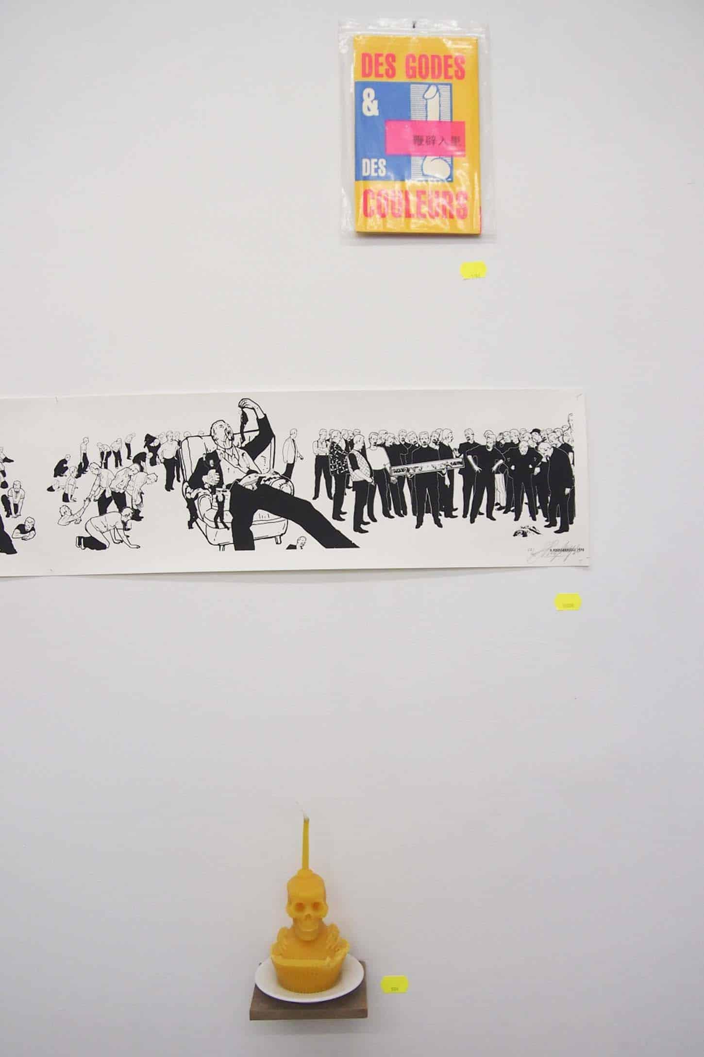 De haut en bas : Tom de Pékin, Han Hoogerbrugge, Baptiste César
