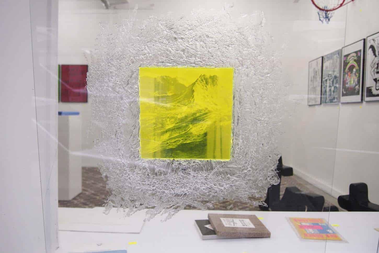 Alice Guittard,Projection Mentale du Mont Nodal, 2014,gravure sur plexiglas, 15x15cm,édition de 5 ex. + 1EA