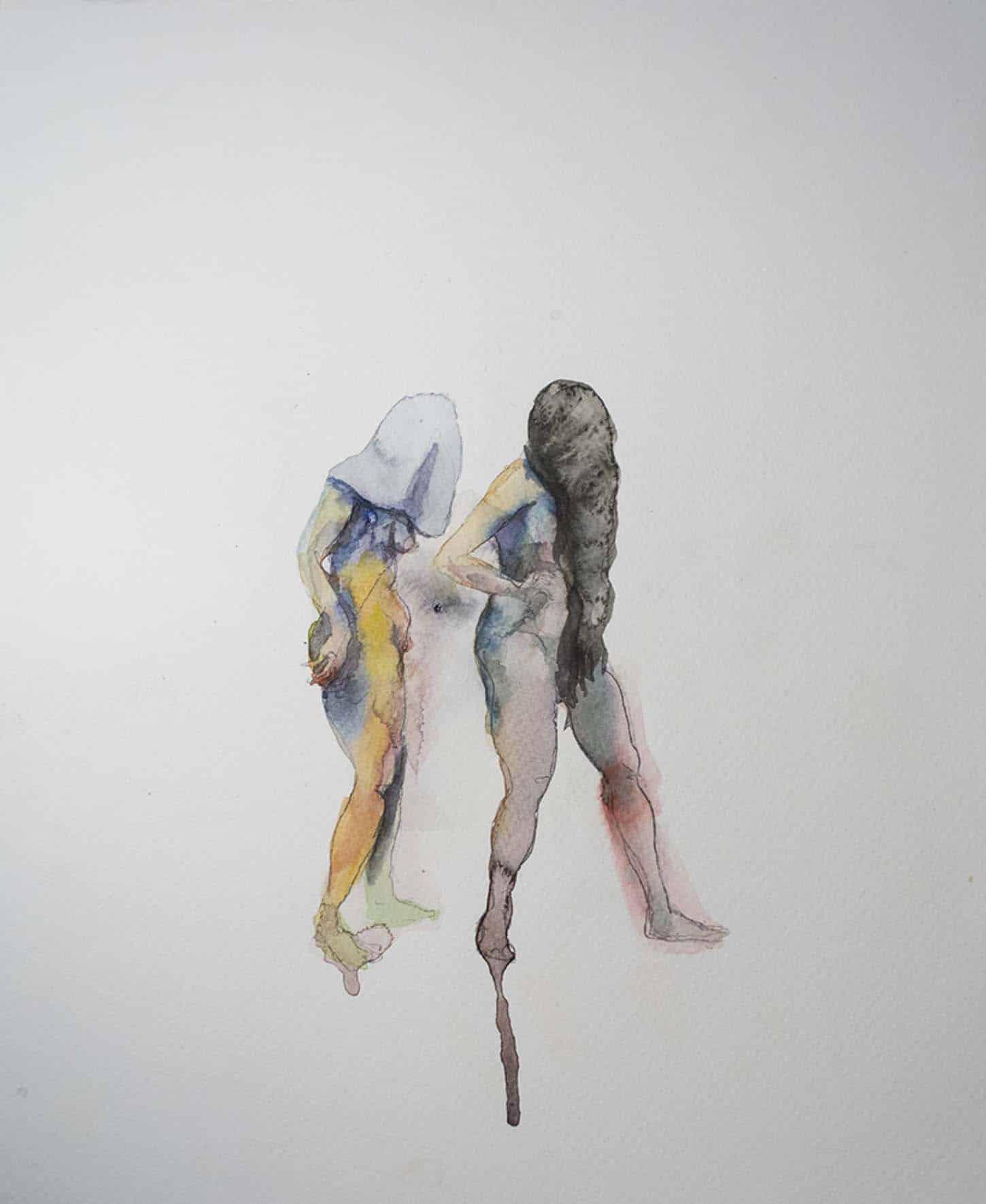 Eglé Vismanté, Hic, 2014, aquarelle sur papier, 33 x 25 cm