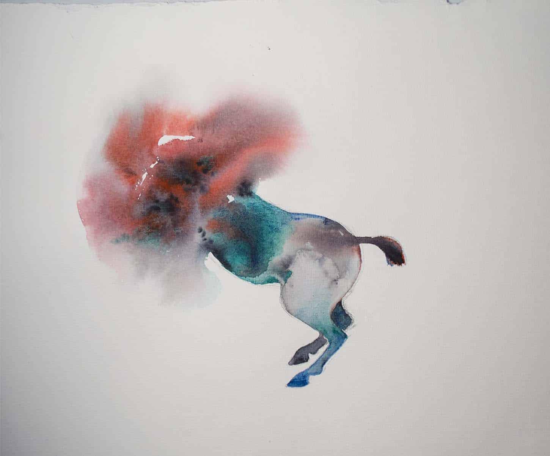 Eglé Vismanté,Hic, 2019, aquarelle sur papier, 32 x 24 cm
