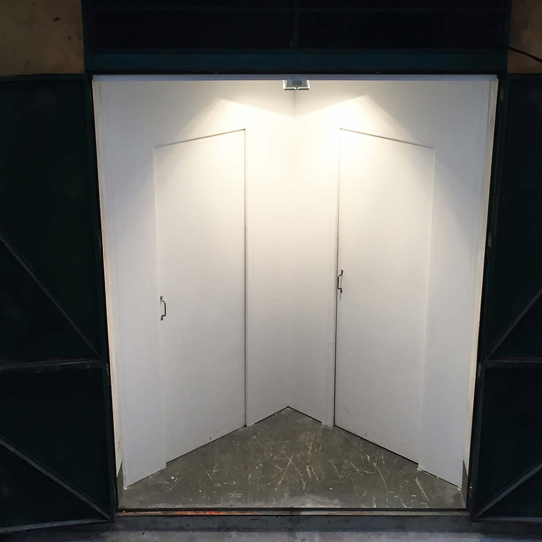 Espace A VENDRE, entrée de l'exposition Boccinum, par Stéphane Protic.