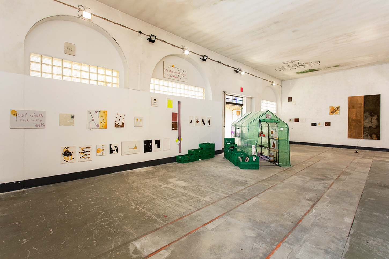 Vue de l'exposition, Tirer l'adresse, vol. 1 : InspirezSimon Bérard & Tom Giampieri8 juin - 28 septembre 2019• Le château, d'Espace A VENDRE