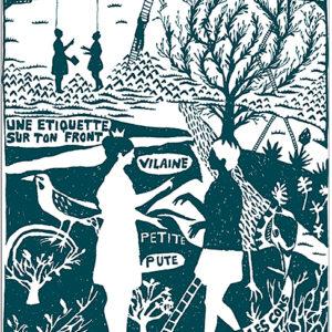 Aurélie William-Leveau,Sans titre, 2013. Sérigraphie sur Brut de Centaure 300gr, 50 x 70 cm. 50 exemplaires